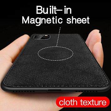 Luxury Magnetic Fabric Leather Case For iPhone11Pro XS Max XR X 7 8 Plus 6 6s