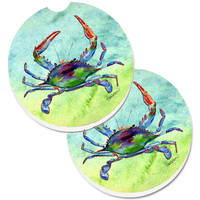 Crab Set of 2 Cup Holder Car Coasters 8550CARC