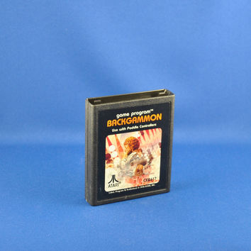 Vintage Atari 2600 Video Game Backgammon From Atari 1979
