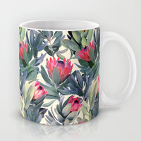 Painted Protea Pattern Mug by Micklyn