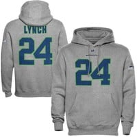 Marshawn Lynch Seattle Seahawks Eligible Receiver Hoodie - Ash