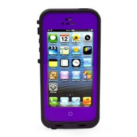 AQURE Waterproof Shockproof Dirtproof Snowproof Protection Case Cover for Apple Iphone 5 (Purple)