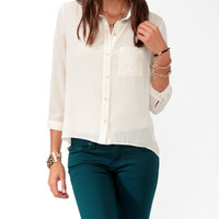 High-Low 3/4 Sleeve Shirt