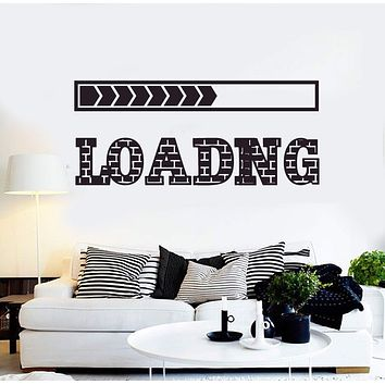 Vinyl Wall Decal Loading Video Games Play Teen Room Gaming Stickers Unique Gift (ig4577)