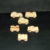 6 Handcrafted Wood Toy Cars-Police Cars- Fire Trucks OT-9 finished or unfinished