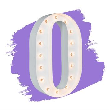 """24"""" Letter O Lighted Marquee Letters (White Gloss)"""