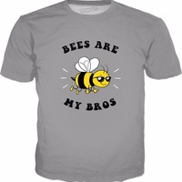 Bees Are My Bros T-Shirt - Funny Save The Bees Beekeeper