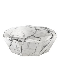 White Polished Diamond Coffee Table | Eichholtz Diamond