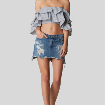 Solve The Ruffle Crop Top