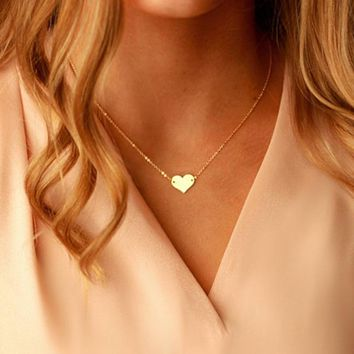 Love Pendant Heart-shaped Gold Wrap Necklaces Vintage Best friends Gift Party Jewelry Choker Kolye Collier Femme Riverdale
