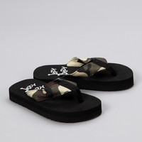 Olive & White Camo Flip-Flop | something special every day
