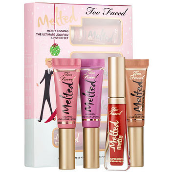 Merry Kissmas The Ultimate Liquified Lipstick Set - Too Faced | Sephora