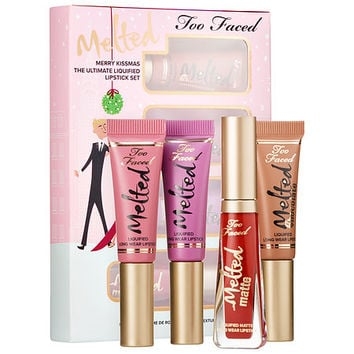 Sephora: Too Faced : Merry Kissmas The Ultimate Liquified Listick Set : lip-palettes-gloss-sets