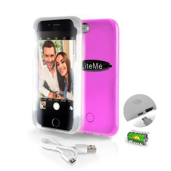 SereneLife LED Illuminated Protective Phone Case For iPhone 6 6s and Battery Juice Pack And Power Bank 2 in 1 iPhone Case - Pink