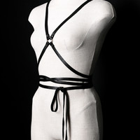 Infinity Wrap Harness in Black and Silver