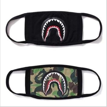ku-you A Bathing Ape Face Mouth Mask Unisex Camo Anti Fog Protective Breathe Bape Masks