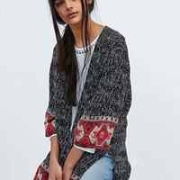 Staring at Stars Mix Print Border Kimono - Urban Outfitters