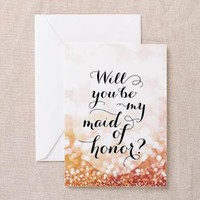 Will You Be My Maid Of Honor - Greeting Cards> Bridesmaids Cards> blursbyaiShop