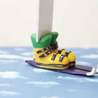 Skiing Boots Funny LegsBookmark by NanayBookmarks on Etsy