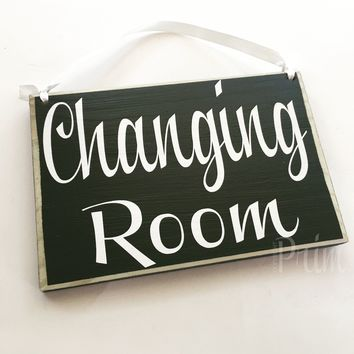 8x6 Changing Room Custom Wood Sign