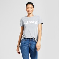 Women's Blessed Graphic T-Shirt Gray - Modern Lux (Juniors')