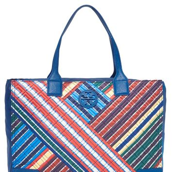 Ella Quilted Stripe Tote