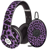 Purple Leopard Skin  for the Beats Studio Headphones & Case by skinzy.com
