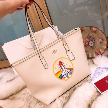 Coach Beige Leather Tote