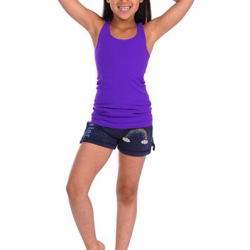 Butter Kids Rainbow Gym Short - Navy