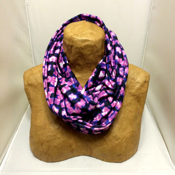 Colorful Knit Scarf - Purple Flecks