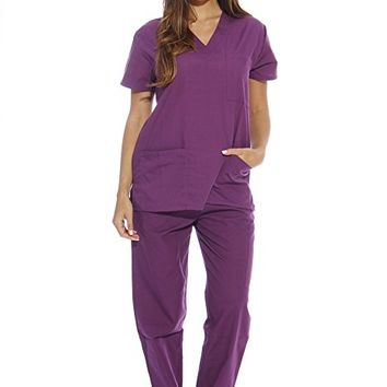 Women's Scrub Sets / Medical Scrubs (V-Neck)