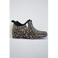 Cheetah Ankle Rainboots