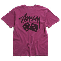 Dice Pigment Dyed T-Shirt Berry