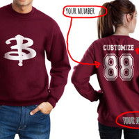 Customizable Buffy the vampire slayer Unisex Crewneck Sweatshirt Maroon