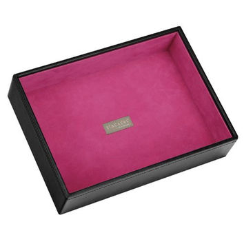 Stackers | Jewelry Box | classic black & pink velvet deep stacker
