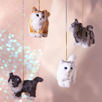 Plush Assorted Cat Ornament - Set of 4 | Urban Outfitters