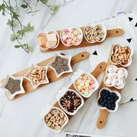 Eco Natural Bamboo Fruits Platter Serving Bamboo Tray