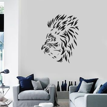 Vinyl Wall Decal Lion Mane Head Animal Tribal Art Decor Room Stickers Mural (ig5624)