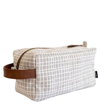 Woven Grey Travel Case