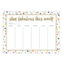 Stay Fabulous Weekly List Pad