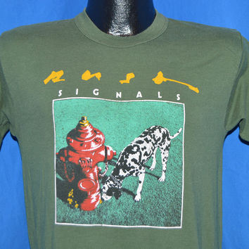 80s Rush Signals New World Tour 82 83 t-shirt Medium