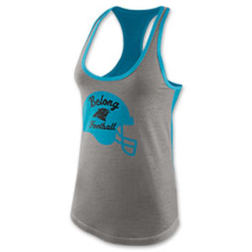 Women's Nike Carolina Panthers NFL Helmet Tri-Blend Tank