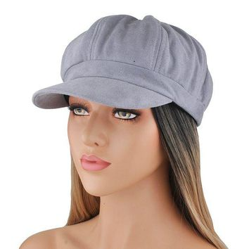ONETOW EINSKEY newsboy Cap, Plain Cabbie Hat For Womens Velvet Visor Beret For Girls Ladies
