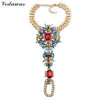 Vedawas 1 Piece Fashion Jewelry Multicolor Luxury Maxi Anklets Crystal Rhinestone Bracelets Foot Jewelry Beads Boho Anklets 2077