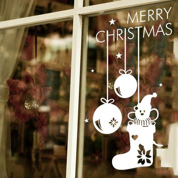wall stickers home decor Window wall stickers christmas decorations for home