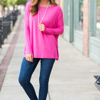 Oh So Easy Piko Top, French Rose