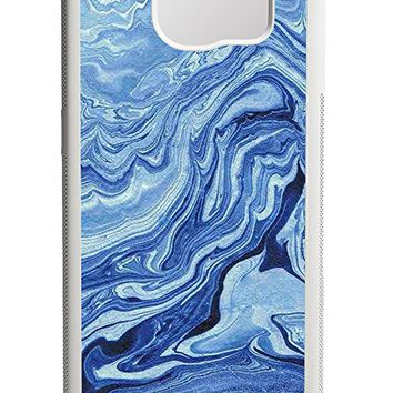 Blue Marble Texture Samsung Galaxy S7 Edge Case White