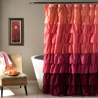 Walmart: Ruffle Peach/Plum Shower Curtain
