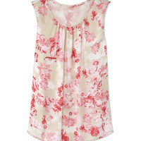 Giambattista Valli Sleeveless Floral Blouse - Silk Blouse - ShopBAZAAR