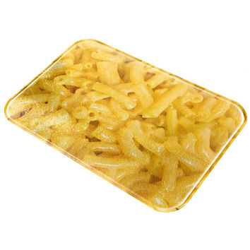 Mac And Cheese Macaroni All Over Glass Cutting Board